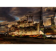 At The Docks Photographic Print