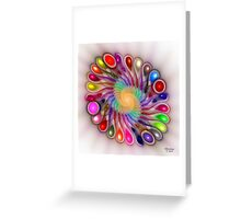 'Light Flame Abstract 310' Greeting Card