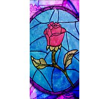 Beauty and the Beast Flower Glass Photographic Print