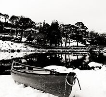 Canoe in Winter by Matt Sillence