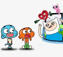 ADVENTURE TIME X GUMBALL by GrowD7