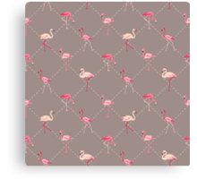 Flamingo Bird Retro Background Canvas Print