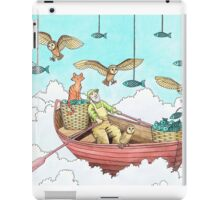Fish Farmer with owls and a pussycat iPad Case/Skin