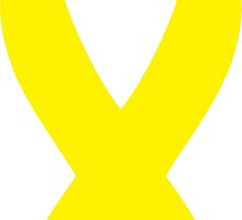 Yellow Awareness Ribbon by retromoomin