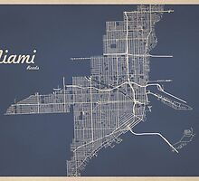 Miami Road Map by GRAPHiMA