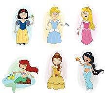 Disney Princesses by Mithila Ananth