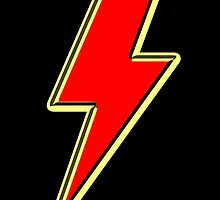Lightning bolt in red by waiting4urcall