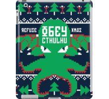 Refuse Christmas, Obey Cthulhu iPad Case/Skin