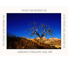 What Lies Within Photographic Print