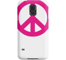 Magenta Peace Sign Symbol Samsung Galaxy Case/Skin