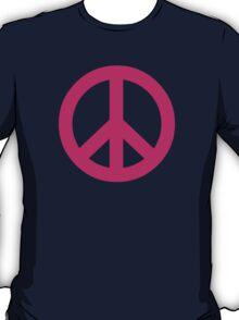 Magenta Peace Sign Symbol T-Shirt