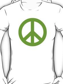 Green Peace Sign Symbol T-Shirt