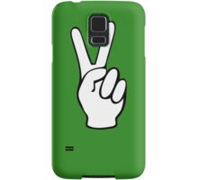 Hand Peace Sign Fingers Samsung Galaxy Case/Skin