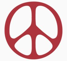 Red 60s Peace Sign Symbol Kids Clothes