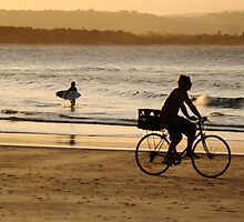 Byron beach and bike by wildplaces