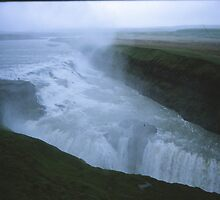 Gulfoss, the waterfall off Gods, the biggest in Europe.  (Iceland) by alaskaman53