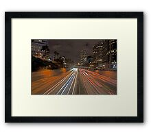 7th street and Harbor freeway Framed Print