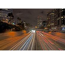 7th street and Harbor freeway Photographic Print