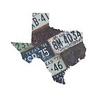 Vintage Texas License Plates by Maren Misner
