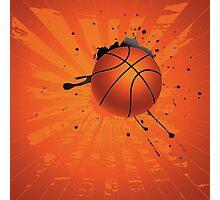 Grunge Basketball 4 Photographic Print