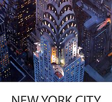 New York City - Midtown Manhattan with Chrysler Building Poster by artshop77