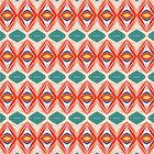 Orange And Green Pattern by Phil Perkins