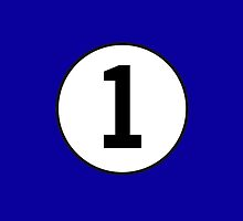 1, First, Number One, Number 1, Racing, Numero Uno, on Navy Blue by TOM HILL - Designer