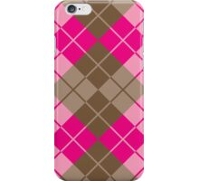 Argyle in Pink and Brown iPhone Case/Skin