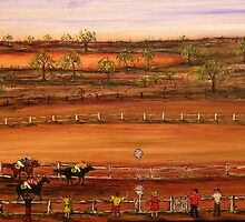 "Australia ""Outback Race Day""   Original Painting Sold by EJCairns"