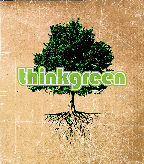 think green by spikemandesigns