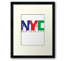 New York City with Color Framed Print