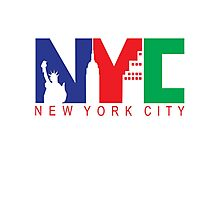 New York City with Color Photographic Print
