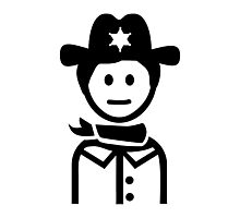 Sheriff uniform Photographic Print