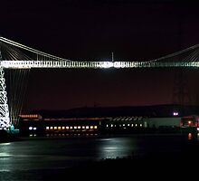 newport transporter bridge - nightlight by opiumfire