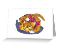 Bow on Kitten Greeting Card