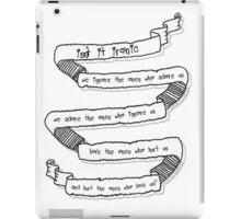 Isn't It Ironic? Tumblr Ribbon iPad Case/Skin