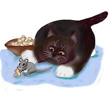 Popcorn Snack for Mouse and Kitten by NineLivesStudio