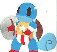 Captain America Squirtle by Katie Lou