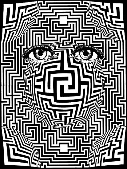 Distorted Vision Eyes Maze by Zehda