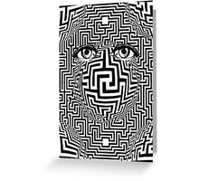 Distorted Vision Eyes Maze Greeting Card
