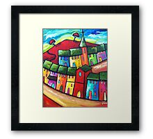 PLAYFUL WIND ON THE HILL Framed Print