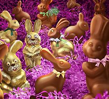 Chocolate Easter Bunnies by Gotcha29