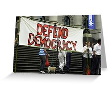 Defend Democracy Greeting Card