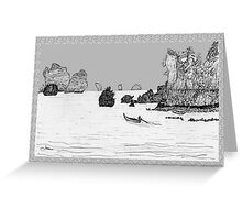 Thailand - the view from Ton Sai beach * Greeting Card