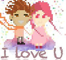 I love U pixel art  by wxarts