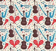Music Instruments Pattern by haidishabrina