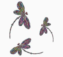 Dragonfly Trio T-Shirt Kids Clothes