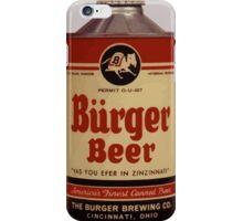 Vintage Burguer beer can. iPhone Case/Skin