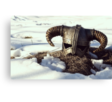The Elder Scrolls V - Skyrim Helmet Canvas Print