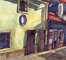 Prague Golden Line (Street) by Yuriy Shevchuk